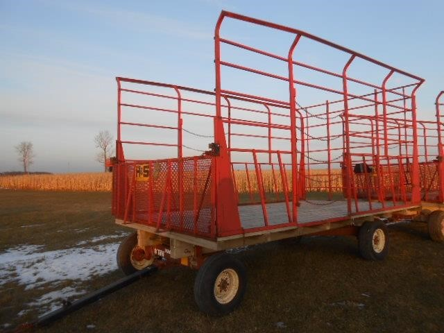 1990 H & S BT8 Bale Wagons and Trailer