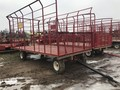 H & S 9X18 Bale Wagons and Trailer
